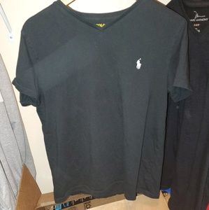 Other - Polo Ralph Lauren black v-neck t shirt